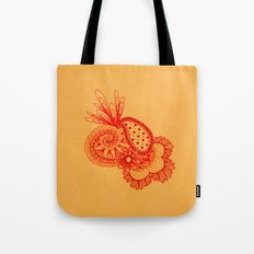 Red Arabesque Tote Bag