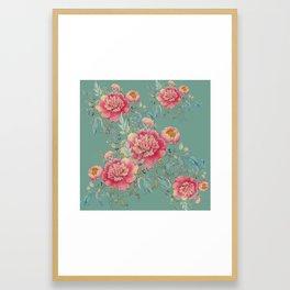 tender gipsy paeonia Framed Art Print