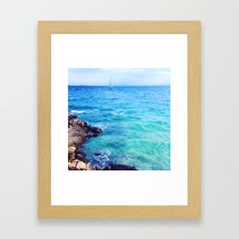Sea at Mallorca,Spain Framed Art Print