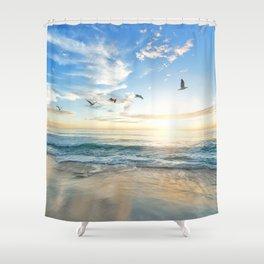 Beach Scene 34 Shower Curtain