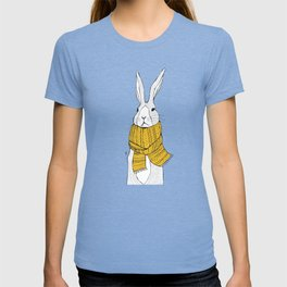 Rabbit in a yellow scarf T-shirt