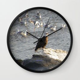 Eagle on Ice Wall Clock