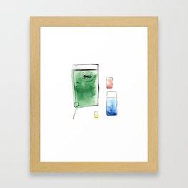 Scuba Glassing Framed Art Print