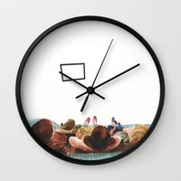 tv Wall Clocks featuring TV! by Marta R. Gustems