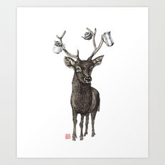 Oh my deer Art Print