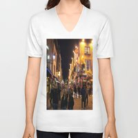 bar V-neck T-shirts featuring Temple Bar by Flattering Images