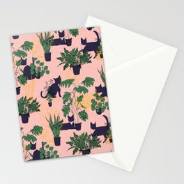 Cats and Houseplants Stationery Cards