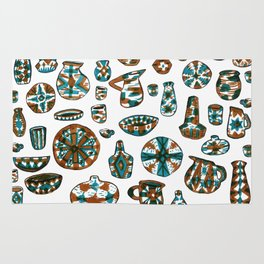 New Mexico Pottery Rug