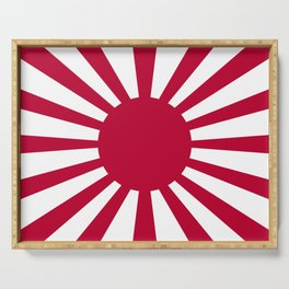 Historic War flag of the Imperial Japanese Army Serving Tray