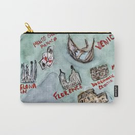 Mediterranean Cruise Watercolored Map Carry-All Pouch