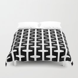 Geometric Pattern 207 (black white) Duvet Cover