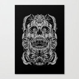 2 FACES SKULL Canvas Print