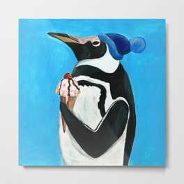 Genial Penguin from Animal Society Metal Print