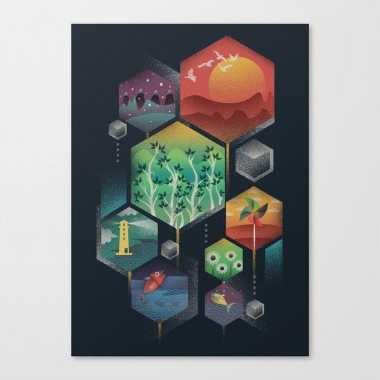 Geometrical Wonders Canvas Print
