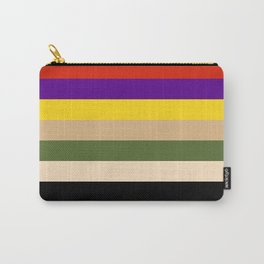 Striped Carry-All Pouch
