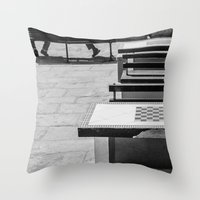 game Throw Pillows featuring Game by Sébastien BOUVIER