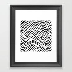 Graphic_Chevron freehand Framed Art Print