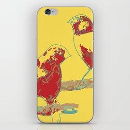 Abstract Sunshine Bird Illustration iPhone Skin