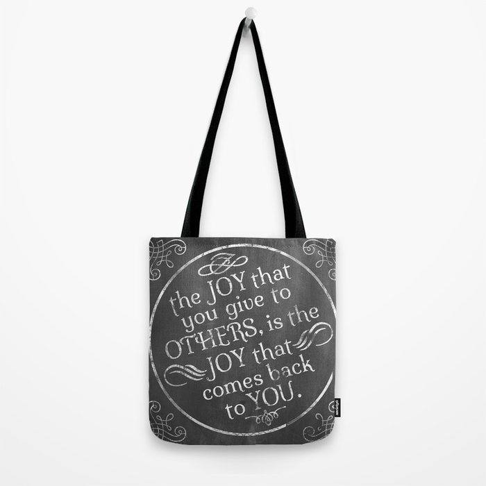 Give Joy  Tote Bag