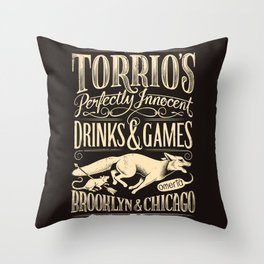 Speakeasy but Say Nothing Throw Pillow