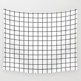 Grid (Black/White) Wall Tapestry