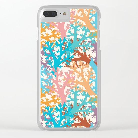 Pastel Marine Pattern 05 Clear iPhone Case