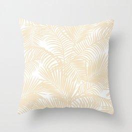 Modern tropical elegant ivory palm tree pattern Throw Pillow