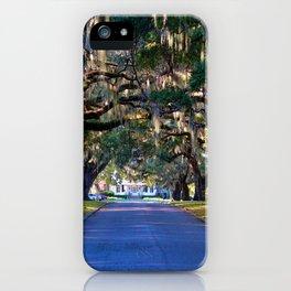 Avenue Of Live Oaks iPhone Case