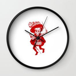 Skeleton Pirate With Dagger Wall Clock