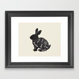 Rabbit Butcher Diagram Framed Art Print