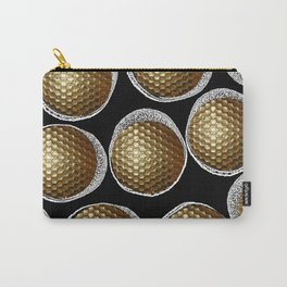 BLACK & WHITE & GOLD Carry-All Pouch