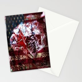 Patriotic American Barn Stationery Cards