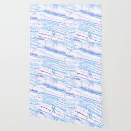 Pastel Marble with Blue Green Purple Wallpaper