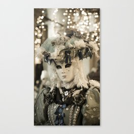 Mask in Venice Italy carnival 2018 Canvas Print