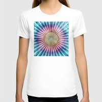 tie dye T-shirts featuring Textured Mandala Tie Dye by Phil Perkins
