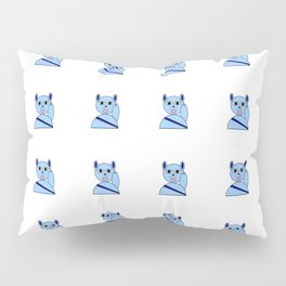 Maneki neko blue version Pillow Sham