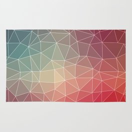 Abstract Geometric Triangulated Design Rug