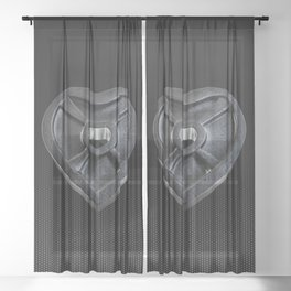 Lift With Your Heart Sheer Curtain