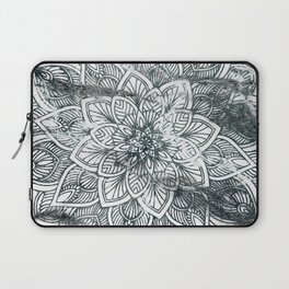 Indie Floral Mandla on White Marble Laptop Sleeve
