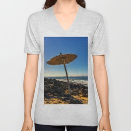 Parasol on the beach Unisex V-Neck