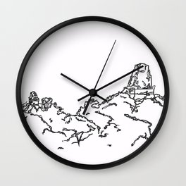 From Whence He Came Wall Clock