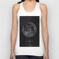 the moon Tank Tops featuring MOON by Alexander Pohl