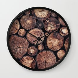 The Wood Holds Many Spirits Wall Clock