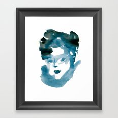 Blue Flame Framed Art Print