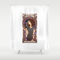 allison argent Shower Curtains featuring Allison by callahaa