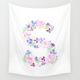 S-ay It Isn't So - Letter S purples Wall Tapestry