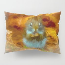 Cute Little Red Squirrel Pillow Sham