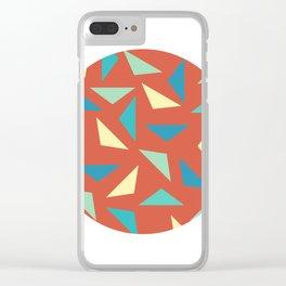 circular triangular Clear iPhone Case