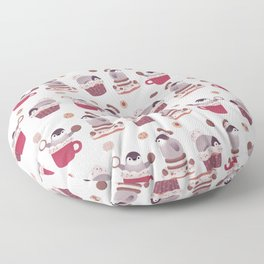 Cookie & cream & penguin Floor Pillow