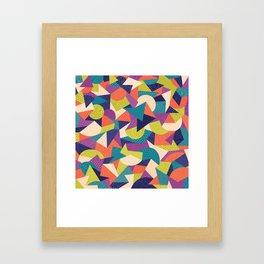 Trendy Abstract Geo Framed Art Print